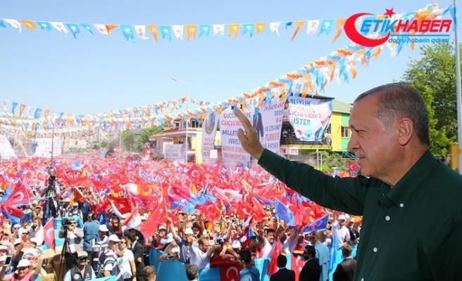 Cumhurbaşkanı Erdoğan: 24 Haziran'da mesele, istiklal ve istikbal meselesi