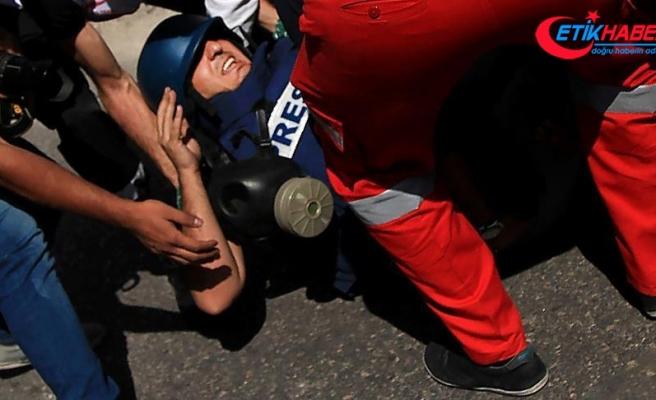 Gazze'deki 'Büyük Dönüş Yürüyüşü' gösterilerinde 55 gazeteci yaralandı