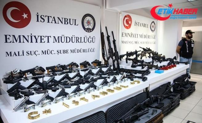 Adnan Oktar soruşturmasında ele geçirilen silahlar sergilendi