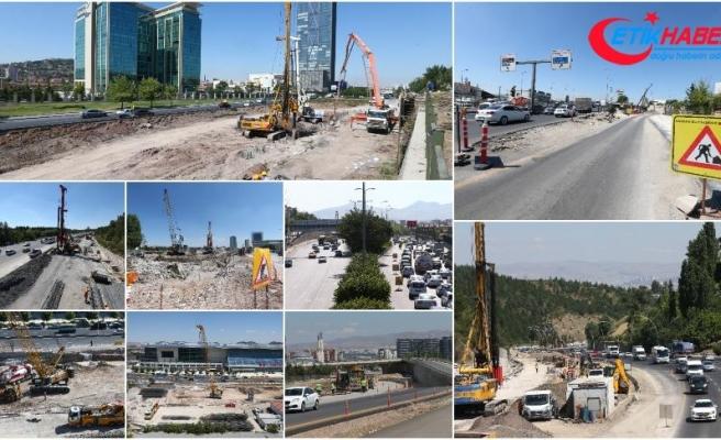 Başkentin trafiği yeni kavşaklarla rahatlayacak