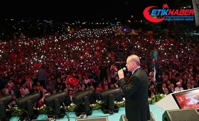 Cumhurbaşkanı Erdoğan 15 Temmuz anma programında konuştu