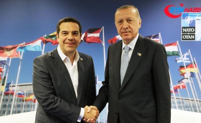 Cumhurbaşkanı Erdoğan ile Yunanistan Başbakanı Çipras telefonda görüştü