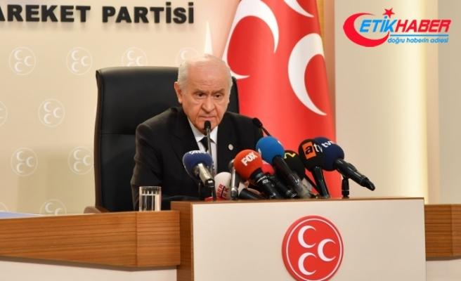 MHP Lideri Bahçeli: Hainlere taviz yok. Bebek katillerine hoşgörü yok