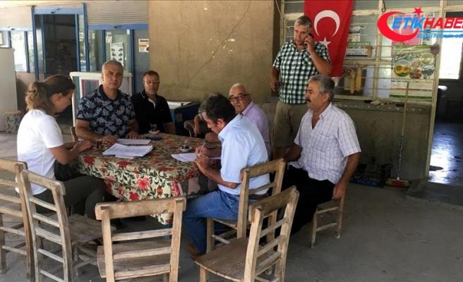 Osmaniye'deki tarım arazilerinde hasar tespit çalışması yapılıyor