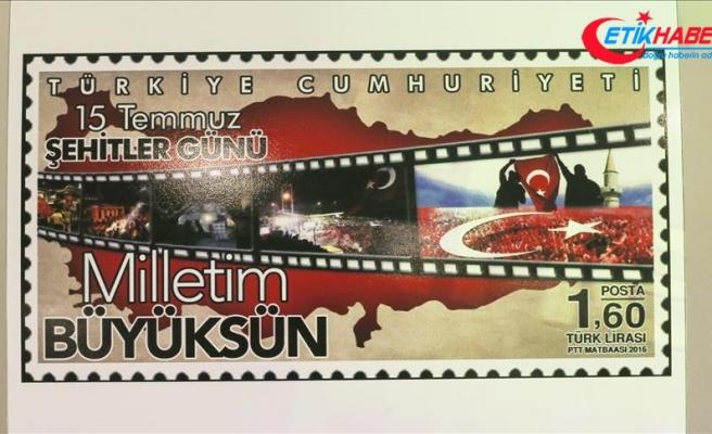 """PTT'den """"Demokrasi ve Milli Birlik Günü"""" konulu pul"""