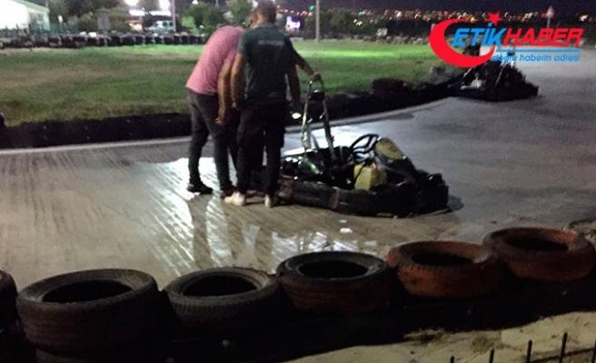 Saçları go-kart lastiğine dolanan kadın ağır yaralandı