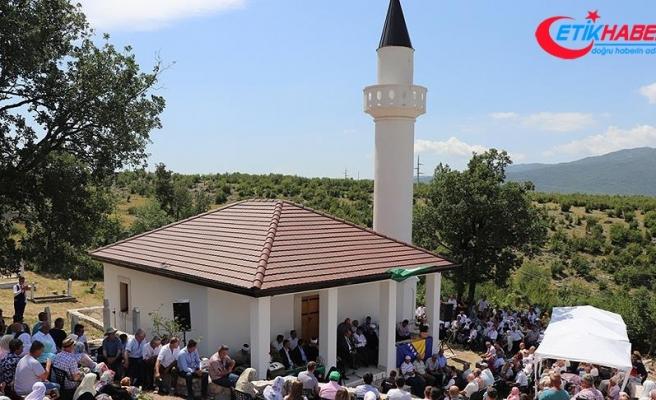 Savaşlarda iki defa yıkılan cami üçüncü kez ibadete açıldı