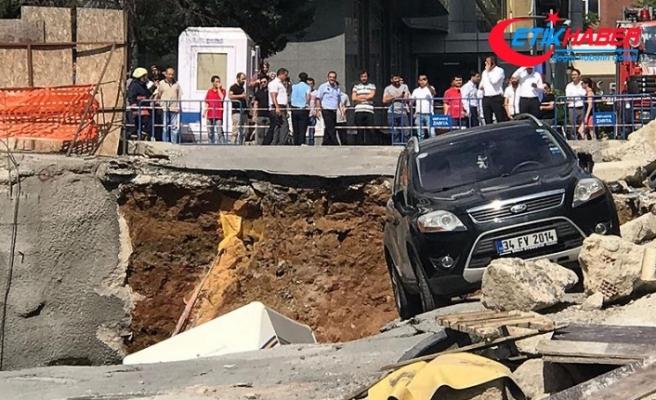 Ümraniye'de inşaatın istinat duvarı çöktü