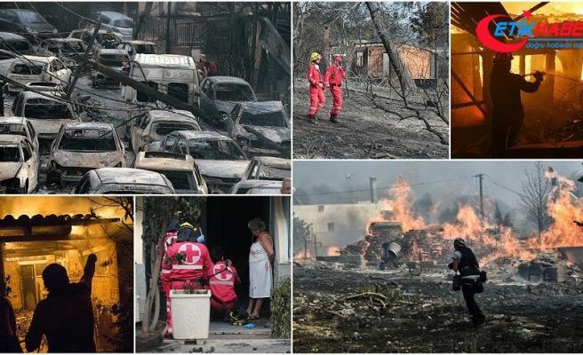Yunanistan'daki orman yangınlarında en az 60 kişi öldü