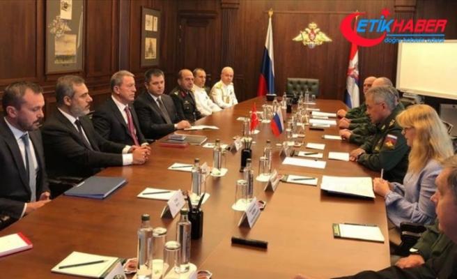 Akar ve Fidan, Rusya Savunma Bakanı Şoygu ile görüştü