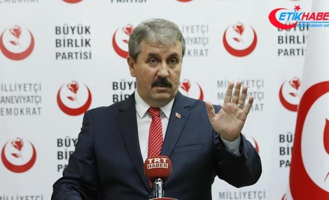 BBP Genel Başkanı Destici: PKK hangi dilden anlıyorsa o dilden konuşmak gerekiyor