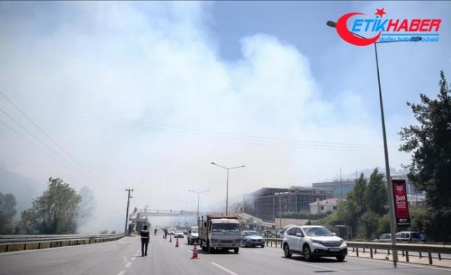 Bursa'daki yangına havadan ve karadan müdahale ediliyor