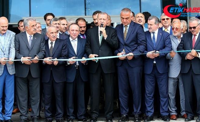 Cumhurbaşkanı Erdoğan Rize'de otel açılışı yaptı
