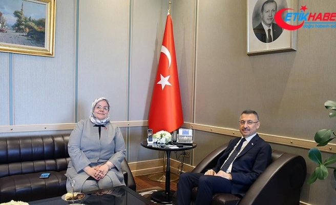 Cumhurbaşkanı Yardımcısı Oktay, Bakan Selçuk'u kabul etti