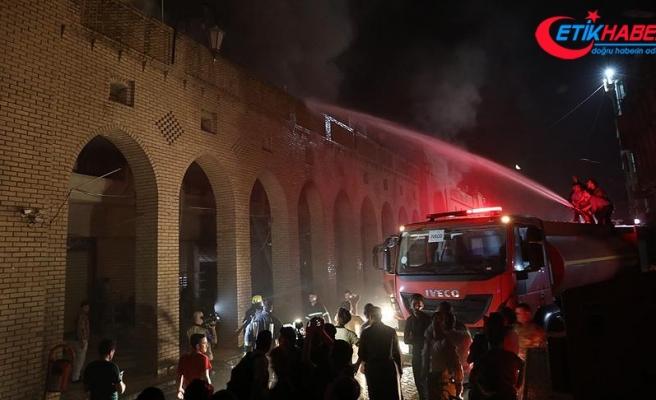 Erbil'de Osmanlı yadigarı Kayseri Çarşısı'nda yangın
