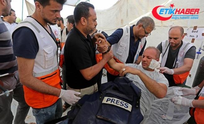 İsrail güçleri geçen ay 28 Filistinli gazeteciyi yaraladı