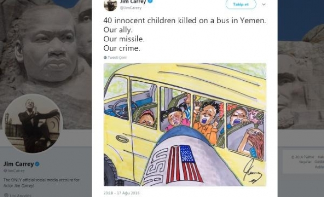 Jim Carrey'den 'Yemen' tepkisi: Bizimmüttefikimiz, bizim füzemiz, bizim suçumuz