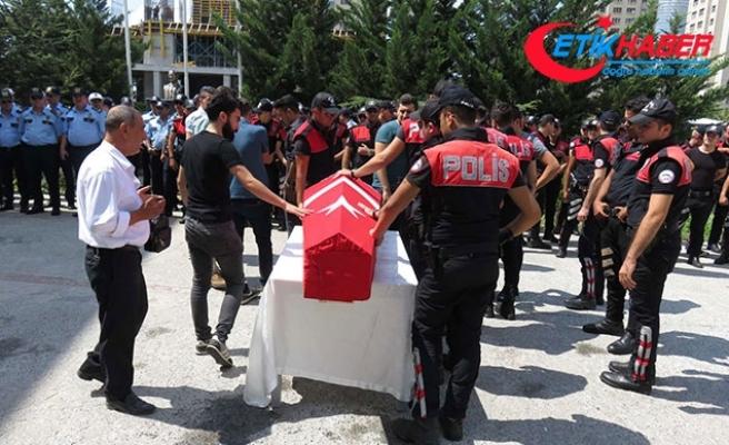 Kazada hayatını kaybeden polis son yolculuğuna uğurlandı