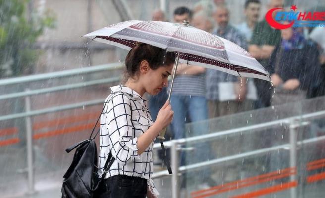 Marmara'da akşam saatlerine kadar sağanak bekleniyor