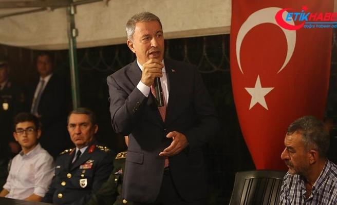 Milli Savunma Bakanı Akar: TSK her türlü gayreti göstermeye devam edecek