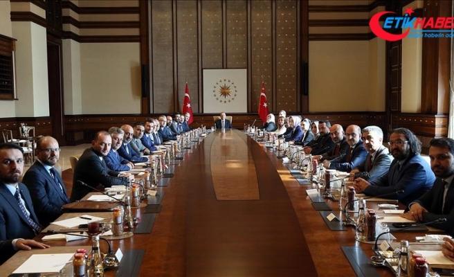 MÜSİAD heyetinden Cumhurbaşkanı Erdoğan'a Ziyaret