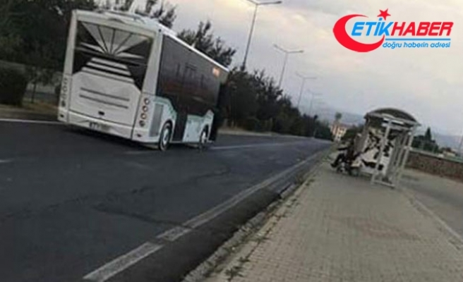 O otobüs şoförüne 2 bin lira ceza kesildi