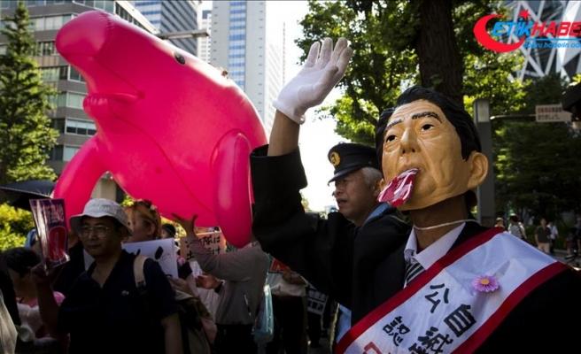 Okinawa Adası'ndaki ABD üssünün yerinin değiştirilmesi planı protesto edildi