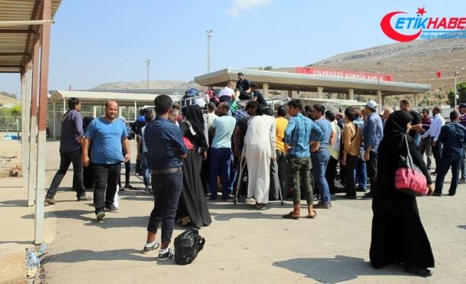 Suriyeliler Ramazan Bayramı için ülkelerine dönüyor