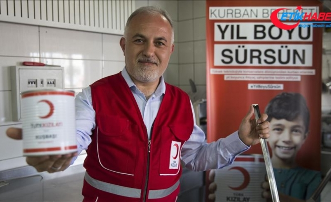 Türk Kızılayı yurt içi kurbanda hedefine ulaştı