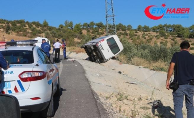 Cenaze dönüşü kaza: 1 ölü, 6 yaralı