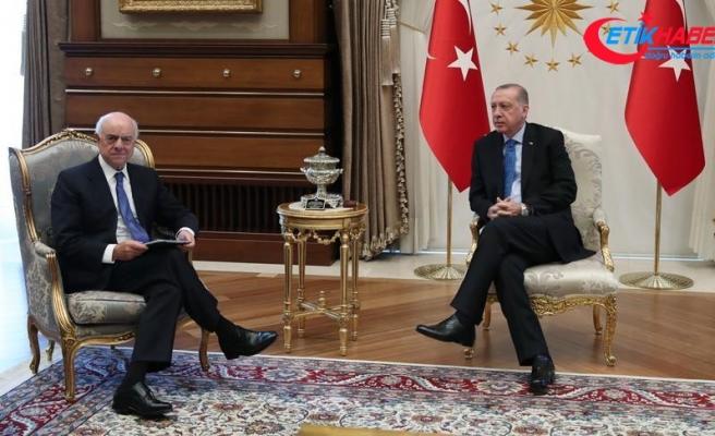 Cumhurbaşkanı Erdoğan BBVA Yönetim Kurulu Başkanı Rodriguez'i kabul etti