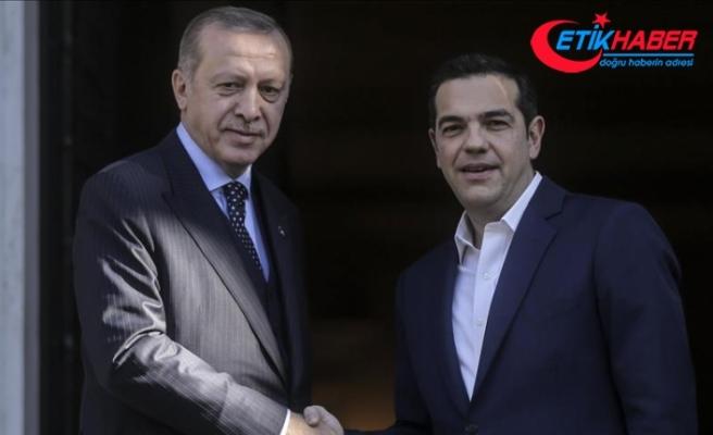 Erdoğan'ın Yunanistan Başbakanı Çipras ile görüşmesi başladı
