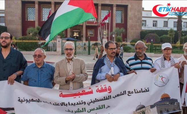 Fas'ta Mescid-i Aksa'ya destek gösterisi