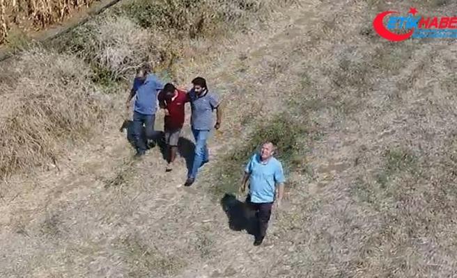 Firari hükümlü 'drone' yardımıyla yakalandı