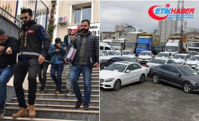 İstanbul merkezli oto hırsızlığı operasyonunda 48 araç bulundu