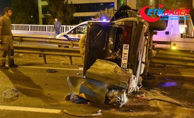 İzmir'de, aynı yerde peş peşe kaza; 1 ölü, 4 yaralı