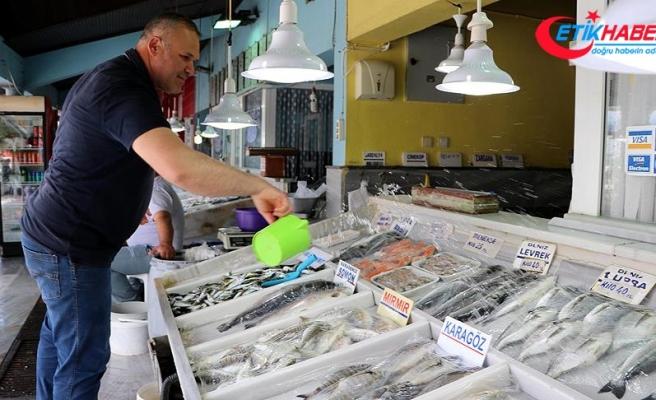 Yasak bitti, balık tezgahları şenlendi