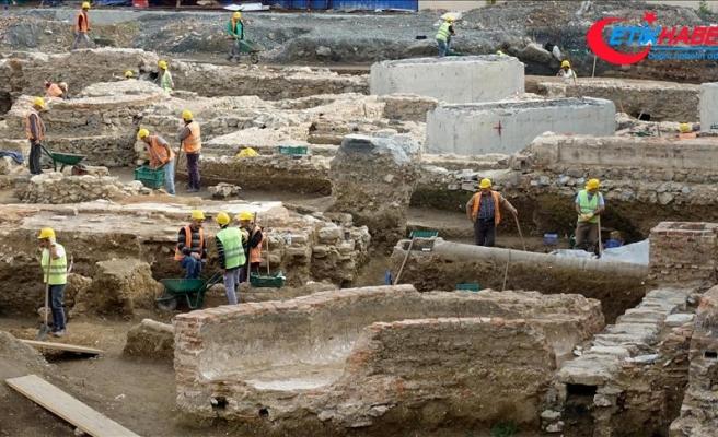 Beşiktaş'taki üniversitenin inşaat alanında tarihi kalıntı bulundu