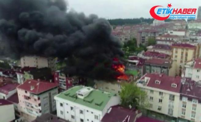 Halkalı'da korkutan yangın