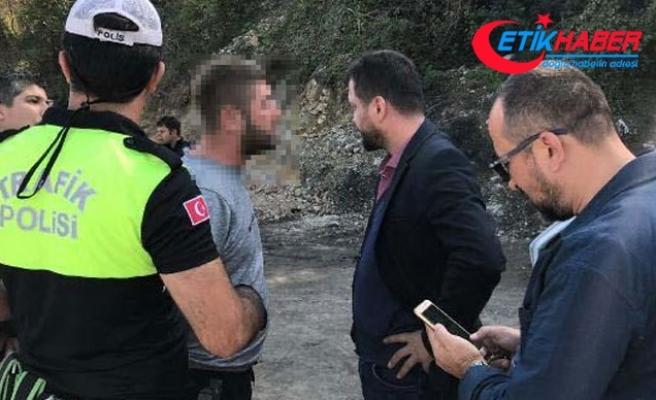 Polisin kovalamacada yakaladığı alkollü sürücünün ehliyetine el konulmuş