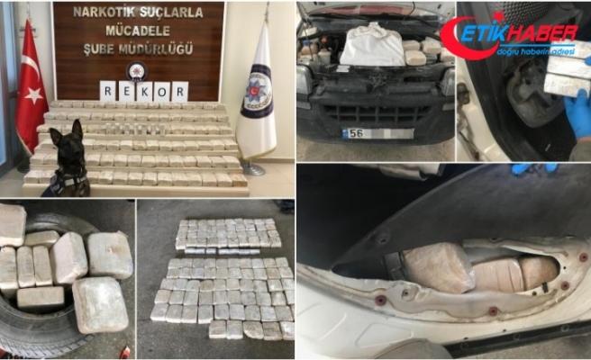Terör örgütü PKK'nın finans kaynağına darbe: 100 kilo eroin bulundu