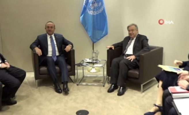 Çavuşoğlu ile Guterres Kaşıkçı cinayetini görüştü