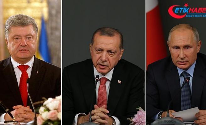 Cumhurbaşkanı Erdoğan, Putin ve Poroşenko ile görüştü