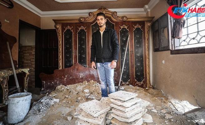 Gazze'de 3 yıldır kurulan hayaller birkaç saniyede yıkıldı