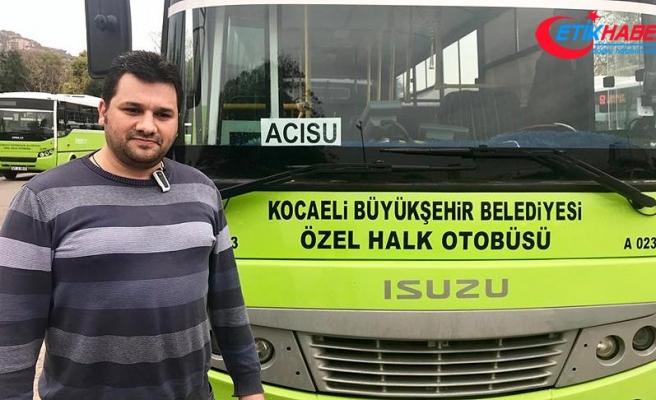 Otobüs şoförü engelli çocuk için güzergahını değiştirdi