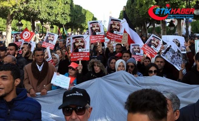 Suudi Veliaht'ın ziyareti Tunusluları sokağa döktü