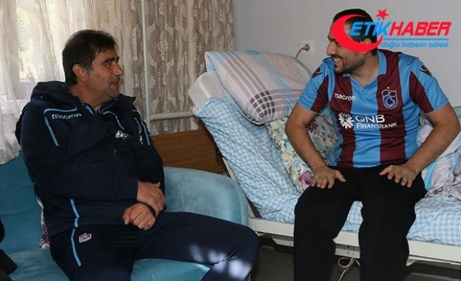 Trabzonspor'dan Gazi Akyüz'e moral ziyareti