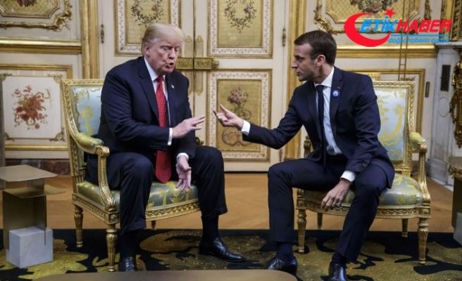 Trump, Macron ile tartıştı