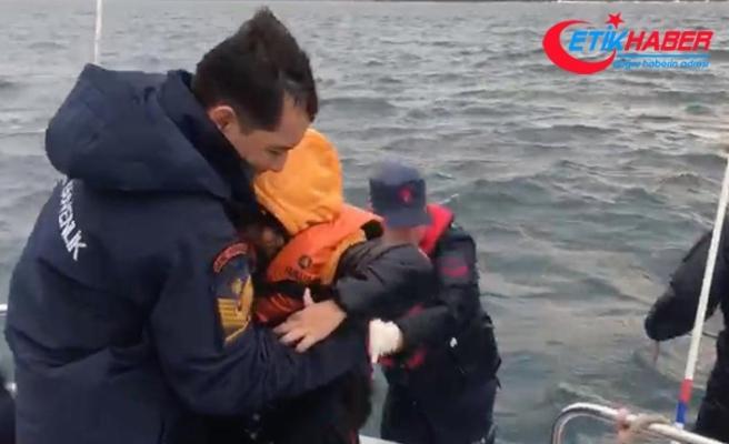 Yumurta Ada'da mahsur kalan 44 düzensiz göçmen kurtarıldı