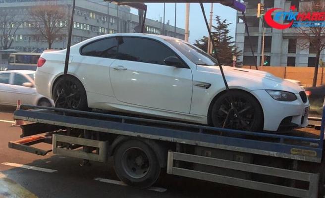 Başkentte drift yapan sürücüye ceza yağdı
